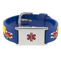 Hope Paige Big Rigs Rubber Watch Band Bracelet - Medical ID