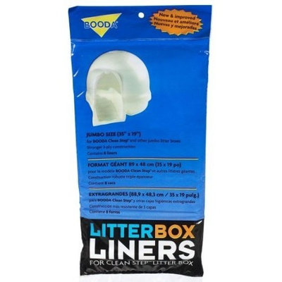Aspen Pet Products Cat Pan Liners Large Drawstring Liners, 35 x 19, 6 Pack