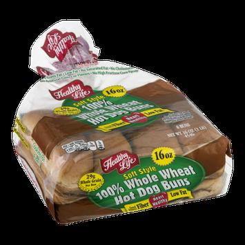 Healthy Life Soft Style Hot Dog Buns Whole Wheat - 8 PK