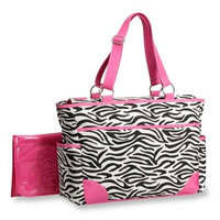 Carter's Fashion Tote Bag, Zebra Print (Discontinued by Manufacturer)