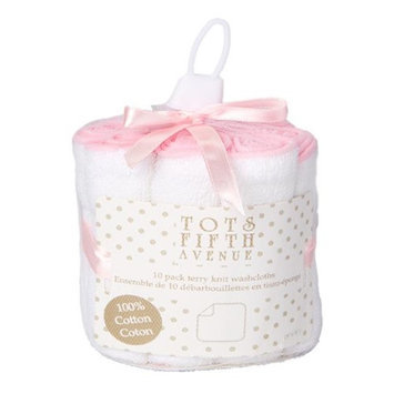 Tots Fifth Ave 1722 Terry Knit Washcloths Pink