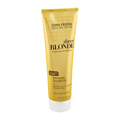 John Frieda Sheer Blonde Highlight Activating Darker Blondes Enhancing Shampoo