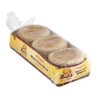 Rudi's Organic Bakery English Muffins Whole Grain Wheat - 6 CT