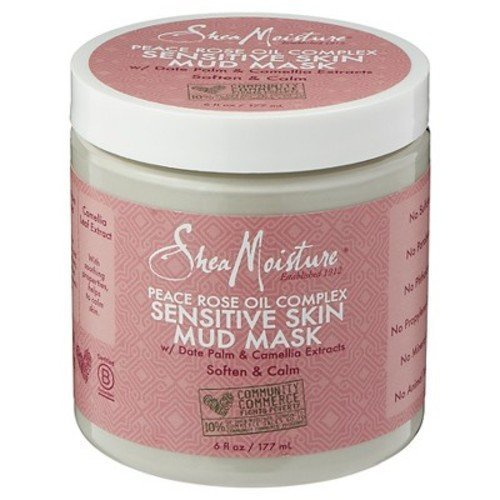 SheaMoisture Peace Rose Oil Complex Sensitive Skin Mud Mask - 6 Fl Oz