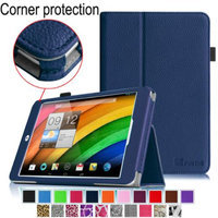 Fintie Premium Vegan Leather Slim Fit Stand Cover for Acer Iconia A1-830 7.9 -Inch Tablet, Navy