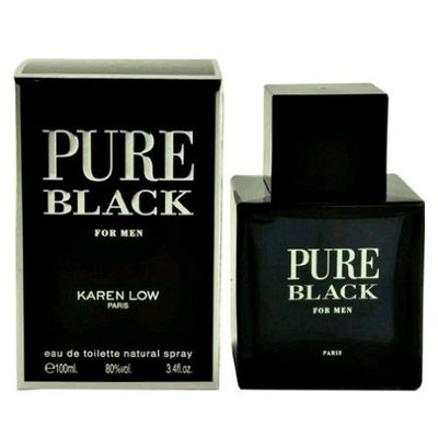Karen Low Pure Black Eau de Toilette Spray for Men, 3.4 Ounce