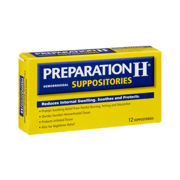 Preparation H Hemorrhoidal Suppositories - 12 CT