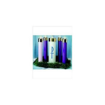 Emkay Candles 54182 Candle Advent Candela Set 12 x 2.62 3 Blue 1 Pink