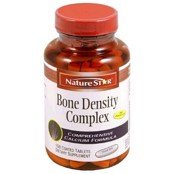 NatureStar Bone Density Complex Dietary Supplement Tablets, 100-Count Bottles (Pack of 2)