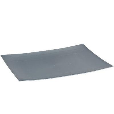 King Zak Ind Lillian Tablesettings 31810 Dinnerware 11.75 in. Silver Rectangular Plate - 120 Per Case
