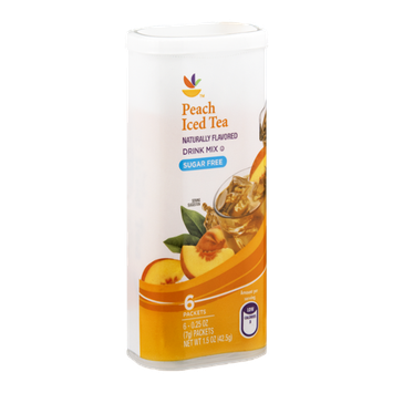 Ahold Drink Mix Peach Iced Tea Sugar Free - 6 CT