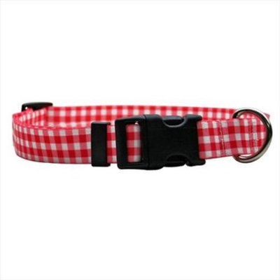 Yellow Dog Design GNR102M Gingham Red Standard Collar - Medium