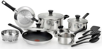 T-fal Corporation Excite 14-Piece Cookware Set - Stainless Steel