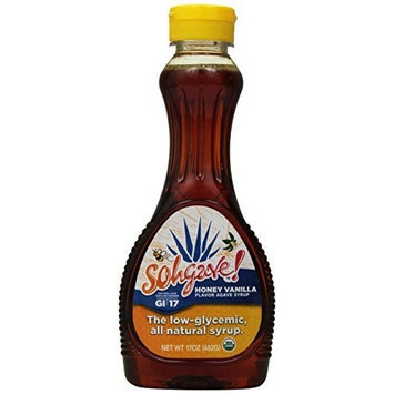 Sohgave! Agave Syrup, Honey Vanilla, 17-Ounce Bottles (Pack of 3)