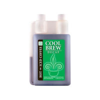 Coolbrew Cool Brew® Fresh Coffee Concentrate - Decaf 1 Liter - Make Iced Coffee or Hot Coffee - Enough for over 32 drinks