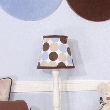 Brandee Danielle Minky Chocolate Polka Dot Lampshade - 193LSMBC