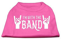 Mirage Pet Products 51-143 XSBPK With the Band Screen Print Shirt Bright Pink XS - 8