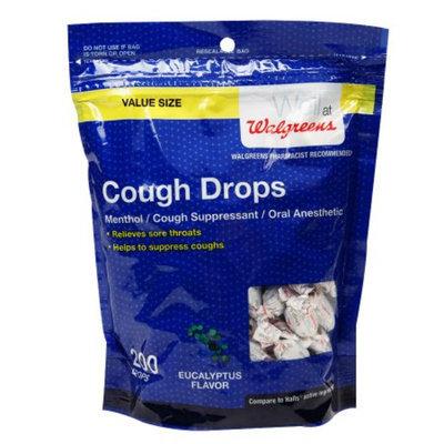 Walgreens Cough Drops, Eucalyptus, 200 ea