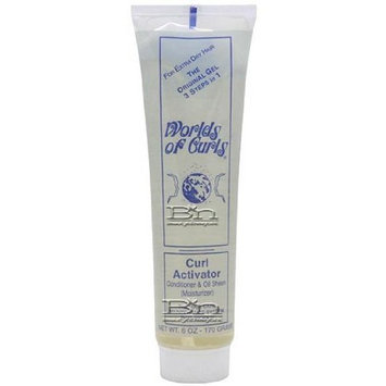 Worlds of Curls Curl Activator Conditioner & Oil Sheen For Extra Dry Hair 6 Oz.