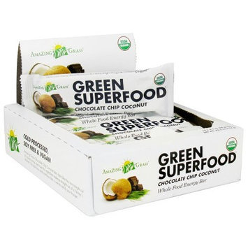 Amazing Grass Green Superfood Energy Bar Chocolate Chip Coconut 2.1 oz. 1 Bar