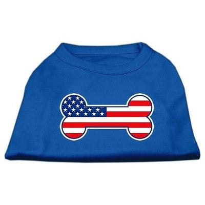 Mirage Pet Products 51-08 XXXLBL Bone Shaped American Flag Screen Print Shirts Blue XXXL - 20