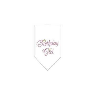 Ahi Birthday Girl Rhinestone Bandana White Small