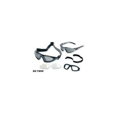 Body Specs BS-TWIN-BLK. 13 Black Frame-Smoke-PKG Goggles-Sunglasses