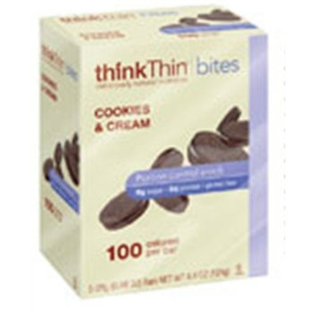Thinkthin Think Thin Products Cookies and Cream Bite, 4.4 Ounce -- 6 per case.