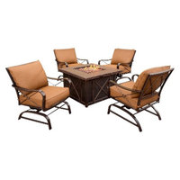 Hanover Summer Night 5-Piece Metal Patio Fire Pit Set