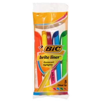 BIC Brite Liner Highlighters, 5 pack