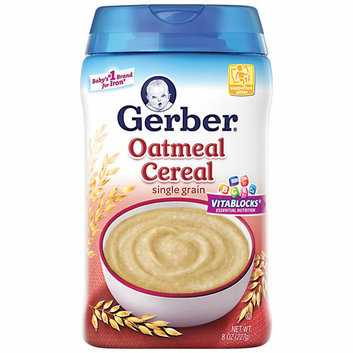 Gerber Single Grain Oatmeal Cereal Baby Food