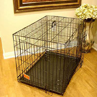 Majestic Pet Products Double Door Folding Dog Crate Cage 24 inch Small 24in