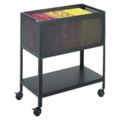 Vertical Filing Cabinet: Safco Steel Mesh Open-Top Tub Filing Cart -