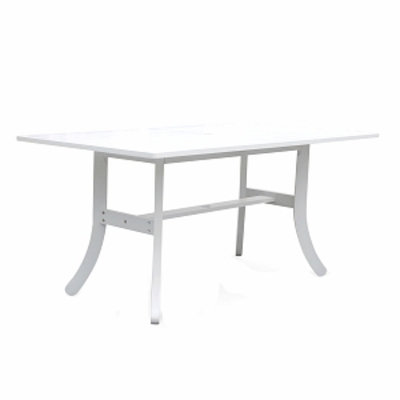 VIFAH Bradley Blanc Outdoor Dining Table, 1 ea