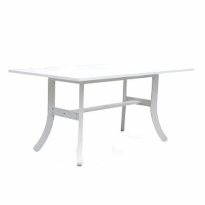 VIFAH Bradley Blanc Outdoor Dining Table, 1 ea