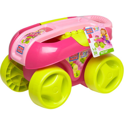 Mega Bloks Build 'N Go Wagon, Pink