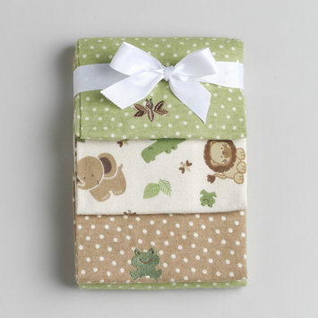 Nojo NoJo Newborn Boys Safari Baby Flannel Receiving Blankets - CROWN CRAFTS INFANT PRODUCTS, INC.
