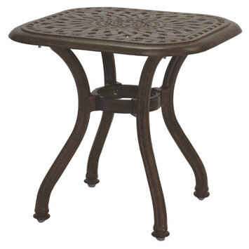 Darlee Series 30 21-in x 21-in Antique Bronze Cast Aluminum Square Patio End Table 201060-A-AB