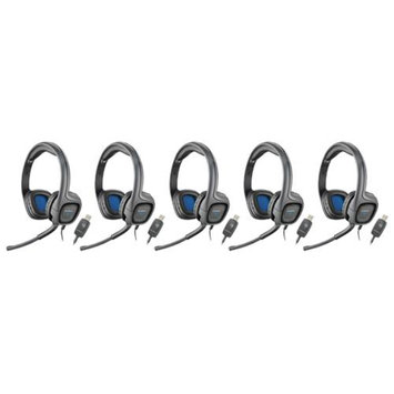 Plantronics AUDIO655DSP Stereo Corded Headset (5 Pack)