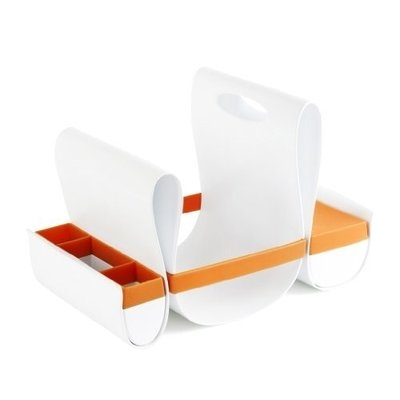 Tomy Boon Loop Diaper Caddy, Orange/White (Discontinued by Manufacturer)