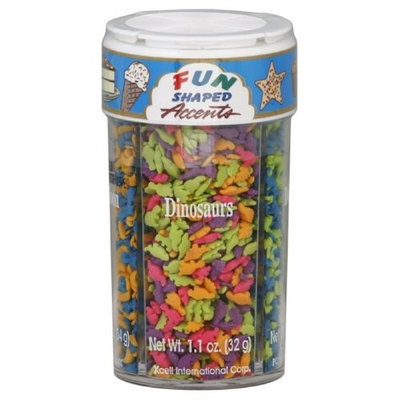 Accents Decors Sprinkles Fun Shaped, 4.4-Ounce (Pack of 3)