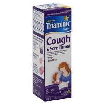 Triaminic Children's Cough & Sore Throat, Grape Flavor, Syrup, 4 oz.