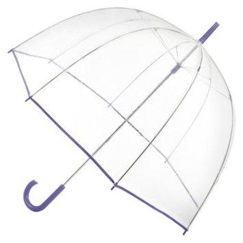 Totes Clear Bubble Umbrella - Purple Trim