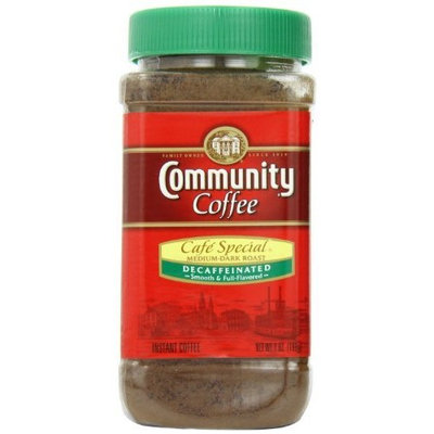 Community Coffee Cafe Special Decaffeinated Instant Coffee 7-Ounce Jars (Pack of 4)