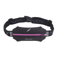 David Shaw Silverware Na Ltd Neoprene Single Pouch Running Belt Pink Zipper