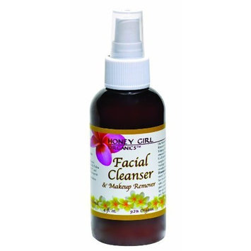 Honey Girl Organics Facial Cleanser and Makeup Remover, 4.0 Fluid Ounce