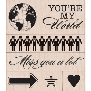 Hero Arts Rubber Stamps Hero Arts Mounted Rubber Stamps-You're My World