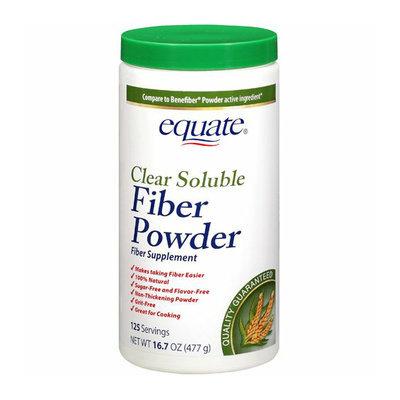 Equate : 125 Servings Clear Soluble Fiber Powder Fiber Supplement
