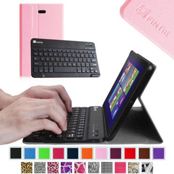 Fintie Slim Smart Shell Case Wireless Bluetooth Keyboard Cover for Dell Venue 8 Pro Windows 8.1 Tablet, Pink