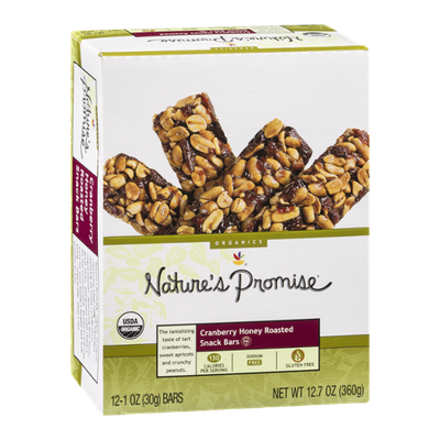 Nature's Promise Cranberry Honey Roasted Snack Bars - 12 CT